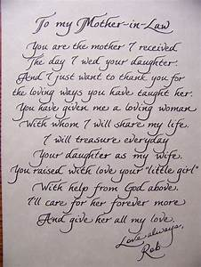 poem to in laws on wedding day wedding pinterest With letter to bride from mother of the groom