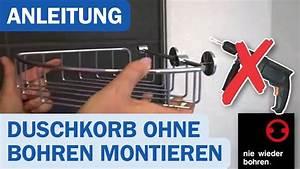 Kleben Ohne Bohren : nie wieder bohren duschkorb montage ohne bohren duschmeister de youtube ~ A.2002-acura-tl-radio.info Haus und Dekorationen