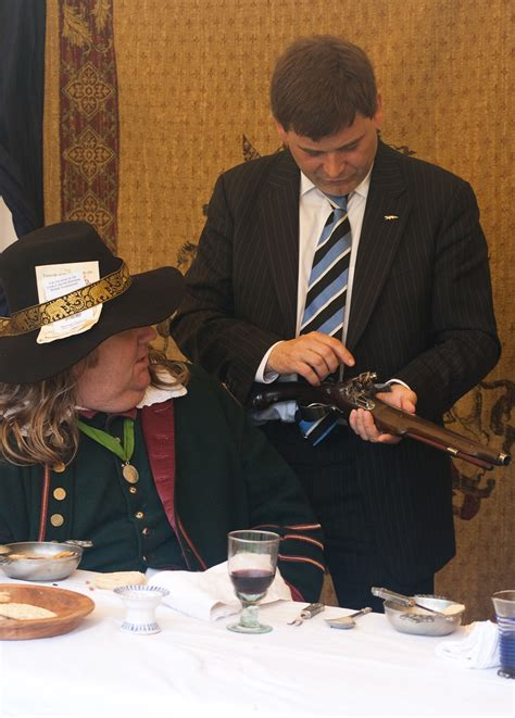 Inspecting a pistol | MP Andrew Bridgen & Jon Courtney ...