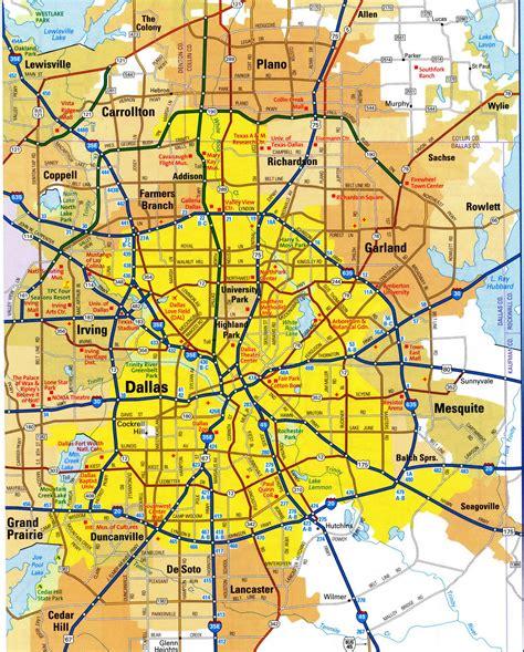 highways map  dallas cityfree maps