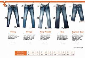Size Chart For Levis Womens Jeans Size Guide
