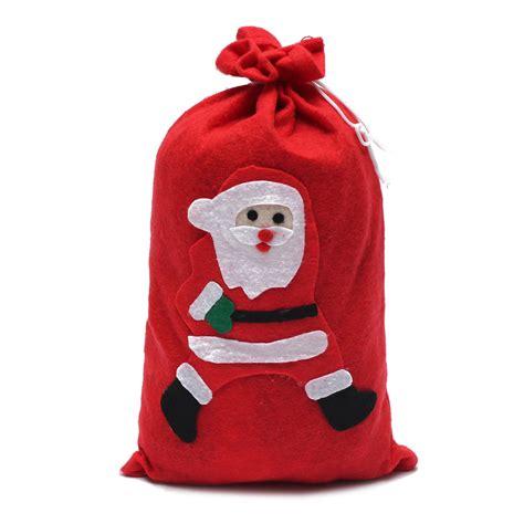 red large santa claus gift sack bag christmas costume