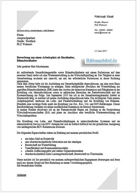 bewerbung buchhalter bilanzbuchhalter downloaden