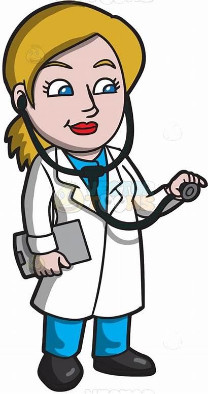Doctor Clipart Cartoon Clip Doctors Medical Female