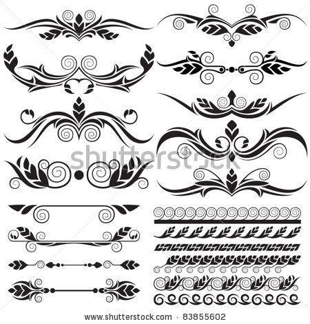 filigree designs  floral design elements