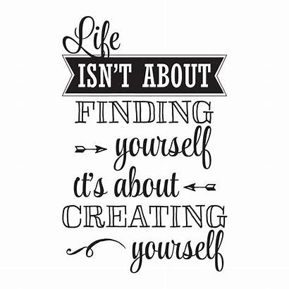 Yourself Creating Quotes Wall Decal Inspirational Isn
