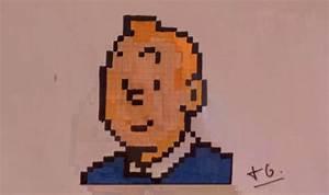 Tintin Dessin Pixel Art – 3 Design