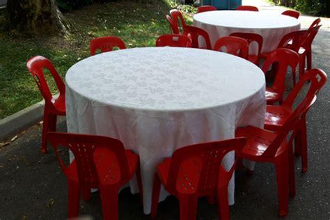 6 foot round table top chair rental singapore lian hup seng construction singapore