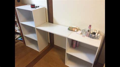diy カラーボックス 215 天板 を使った机 テーブルの手作り家具アイデア desk table with