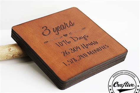 3rd anniversary gifts 3rd anniversary gift leather 3 year anniversary by craftiveleather