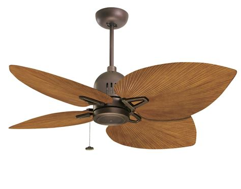 palm leaf ceiling fan blades 52 quot oil rubbed bronze nedmac outdoor ceiling fan w pecan