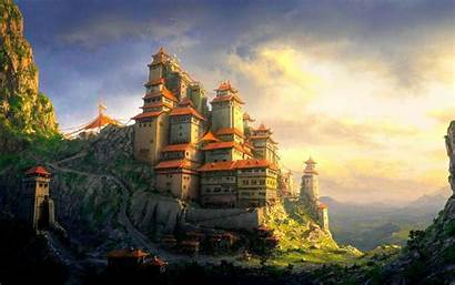 Castle Fantasy Wallpapers Kingdom Laptop Cool Backgrounds