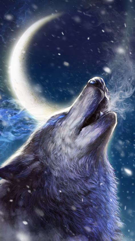 Wolves Howling Moon Wallpaper