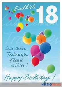 Geburtstagsbilder Zum 18 : gl ckwunschkarte 18 geburtstag endlich 18 01016a ~ A.2002-acura-tl-radio.info Haus und Dekorationen