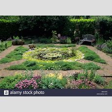 Fairfield Surrey Small Formal Herb Garden With Circular