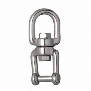 Stainless Steel Swivel Eye And Jaw With Allen Key Flush