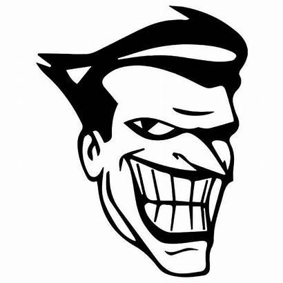 Joker Face Decal Sticker Batman Animated Vinyl