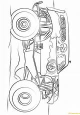 Digger Grave Monster Truck Pages Coloring Easy Printable Print Bigfoot Famous Coloringpagesonly Transport sketch template