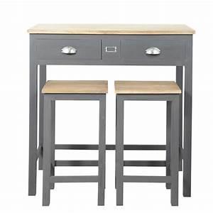 Table Haute Maison Du Monde : table manger haute et 2 tabourets gris l90 chablis ~ Farleysfitness.com Idées de Décoration
