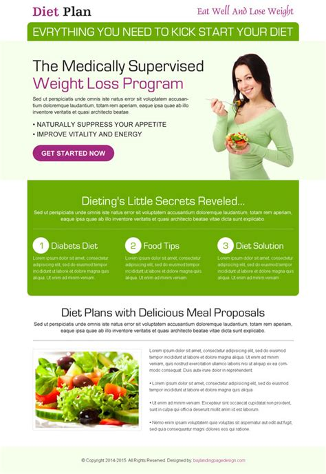 diet by design best conversion centered weight loss landing pages 2014