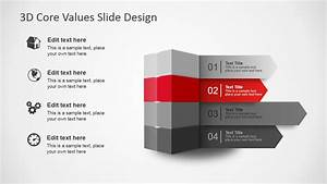3D Core Values Slide Design for PowerPoint - SlideModel