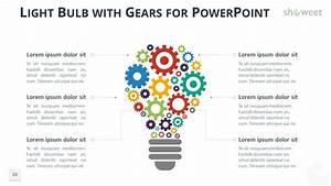 Diagramas Con Engranajes Para Powerpoint