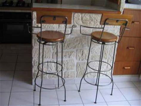 mod 232 le table de bar fer forge et bois