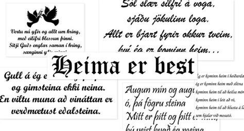 Fallegar og heimilislegar vísur fyrir heimilið, stórir ...