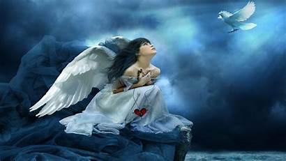 Angels Weeping Angel Broken Alone Wallpapers Hearted