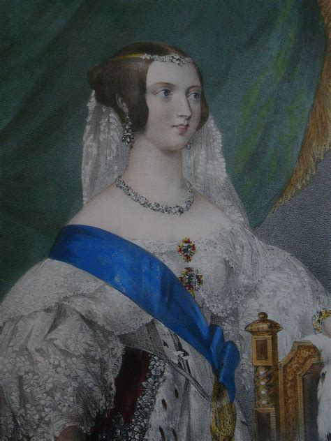 1837 Queen Victoria color print etched and tinted by George Howard from Steve Conrad archive ...