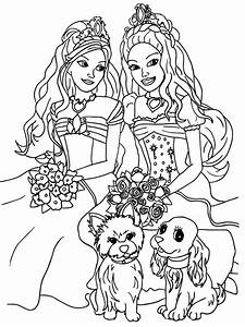 Barbie Coloring Sheets Girly Printable Coloring Pages Coloring Home