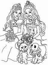 Coloring Girly Pages Printable Barbie Popular sketch template