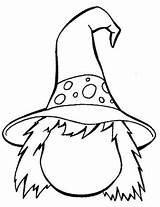 Coloring Witch Pages Witches sketch template