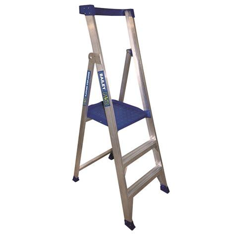 aluminium ladder bunnings bunnings bailey ladders bailey 0 9m 150kg aluminium
