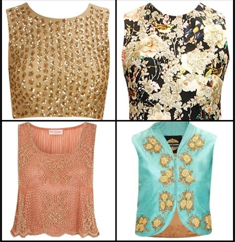 crop top blouse how to wear crop tops as blouses for wedding functions
