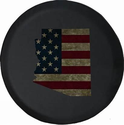 Flag Tire American Distressed Arizona Spare Rv