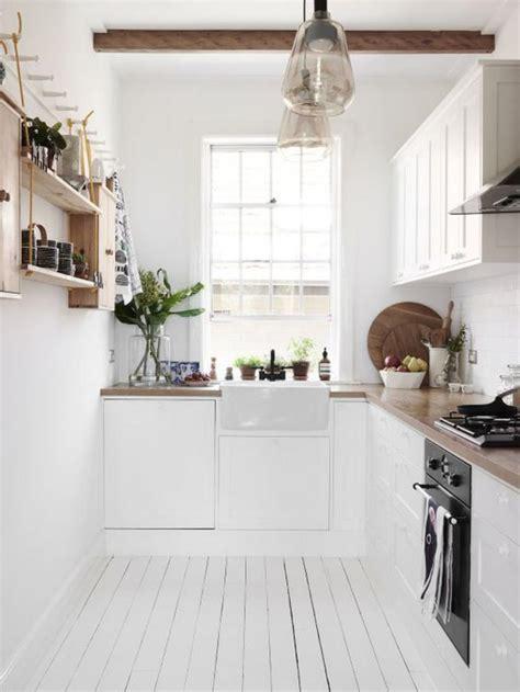 cuisine sol blanc la cuisine blanche et bois en 102 photos inspirantes
