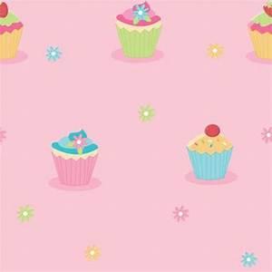 Buy Fine Decor Cute Cupcake Pink Childrens Kids Wallpaper