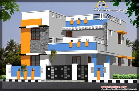 home design gallery 3 house elevations 2500 sq ft home appliance