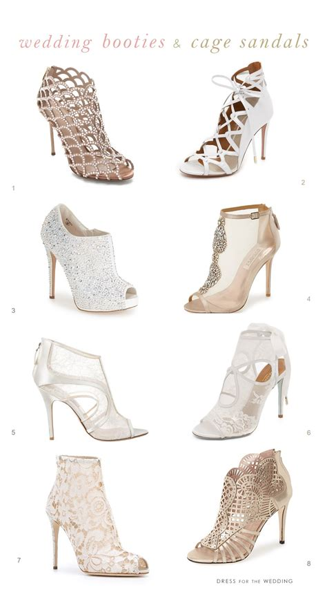 wedding boots bridal booties  cage sandals