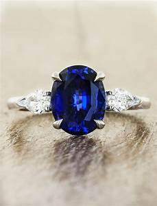 permelia sapphire oval sapphire three stone ring ken With wedding rings with sapphire stone