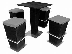 Salon De Jardin Table Haute : salon de jardin la havane table haute 4 tabourets 51883 ~ Teatrodelosmanantiales.com Idées de Décoration