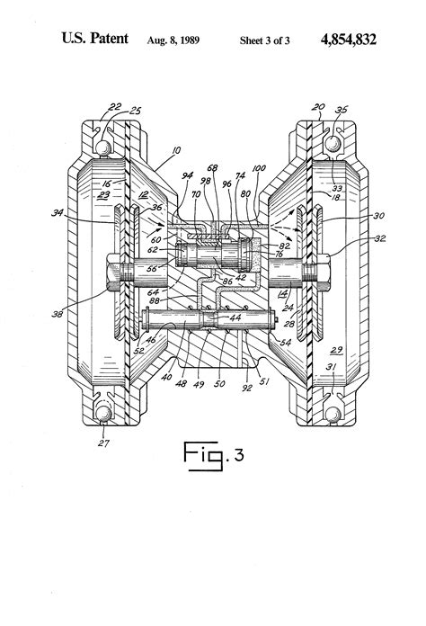 Patent US4854832 - Mechanical shift, pneumatic assist
