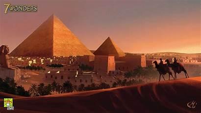 Egypt Pyramids Pyramid Wonders Wallpapers Giza Artwork