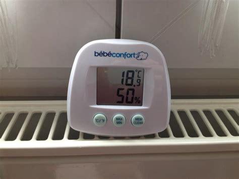 thermomètre hygromètre chambre bébé thermomètre hygromètre bebe confort avis