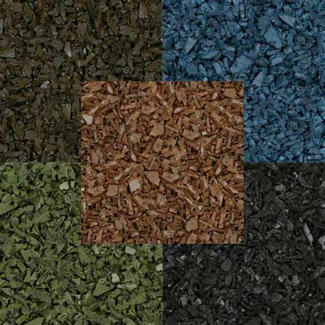 rubber bark rubber mulch sle 5 color sle sack from groundsmart mulch