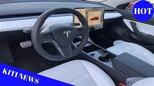 First close look at Tesla Model 3 Performance with white interior on delivery lot - YouTube