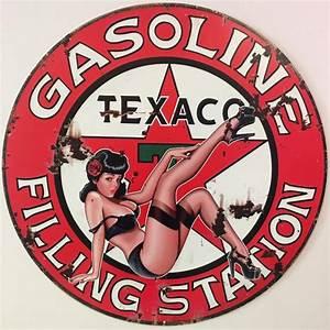 Plaque Vintage Metal : plaques essence huile moteur ~ Teatrodelosmanantiales.com Idées de Décoration