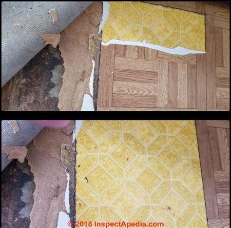 color guide  identify asphalt asbestos vinyl asbestos