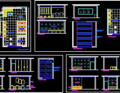 beauty salon floor plan layout dwg file  autocad